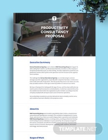 Sample Consulting Proposal
