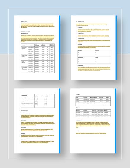 Sample General Marketing Plan