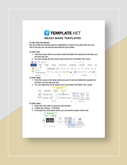 Simple Project Management Plan Instructions