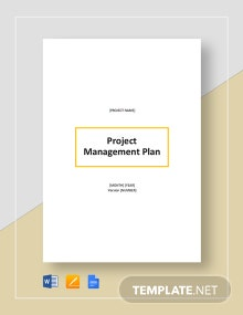 Simple Project Management Plan Template