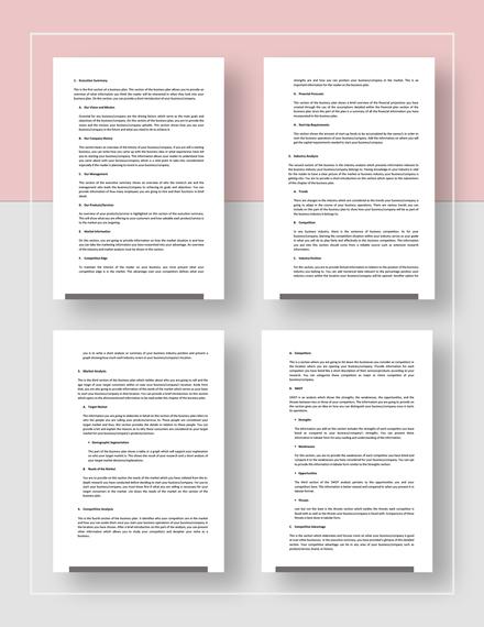 sample business plan outline Download