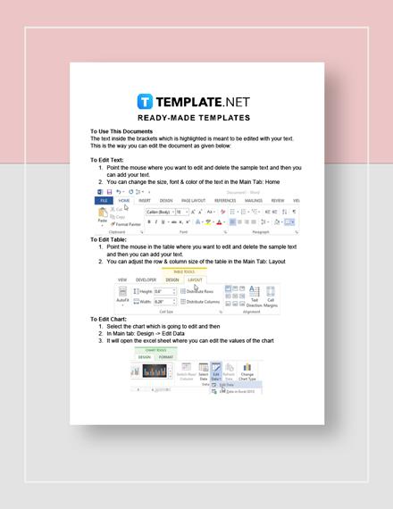sample business plan outline Instructions