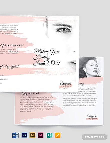 Accordion Fold Bi-Fold Brochure Template