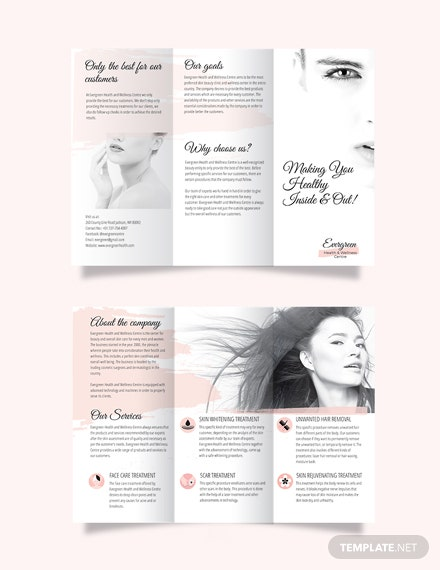 Accordion Fold Tri-Fold Brochure Template