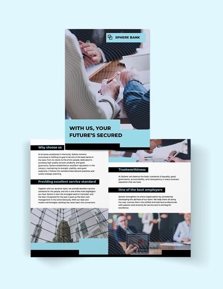 Banking Service Bi-Fold Brochure Template