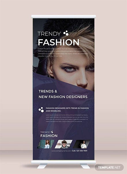 Free Fashion Roll Up Banner Template