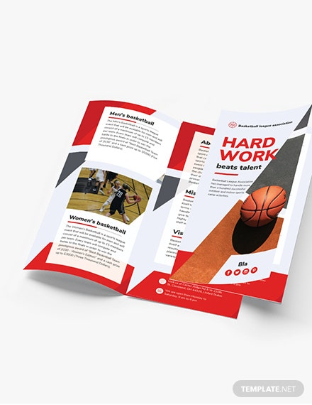 Basketball TriFold Brochure Download