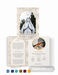 Catholic Bi-Fold Brochure Template