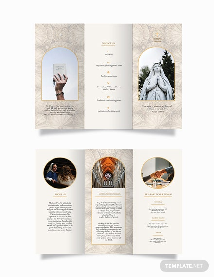 Catholic Tri-Fold Brochure Template
