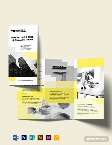Commercial TriFold Brochure Template
