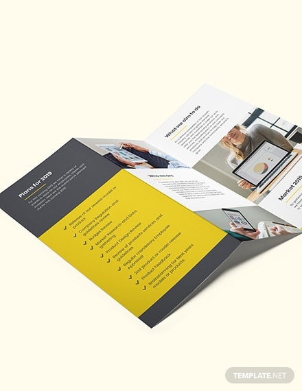 Company Annual Report TriFold Brochure Download