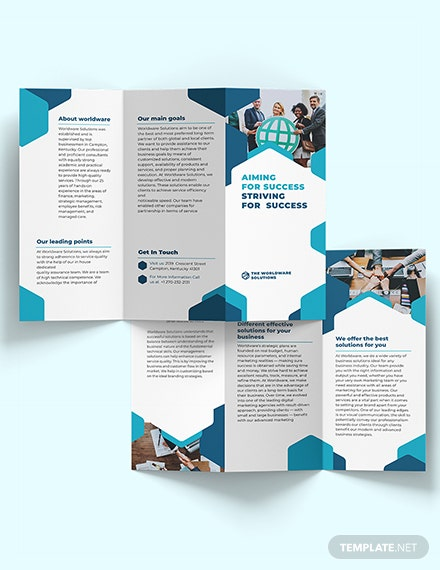Corporate Company TriFold Brochure Download