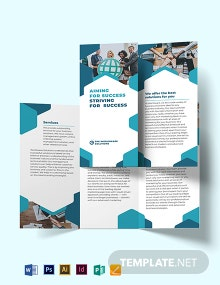 Corporate Company Tri-Fold Brochure Template