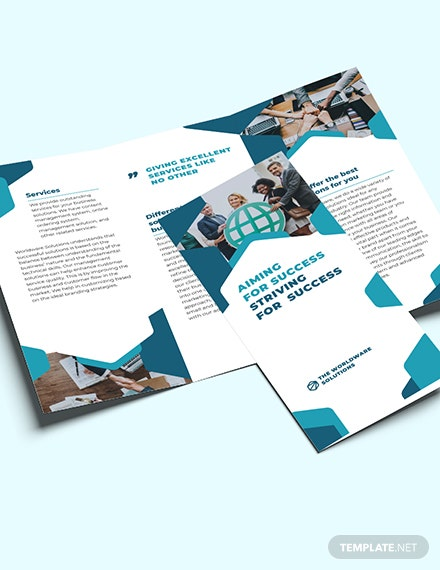Sample Corporate Company TriFold Brochure