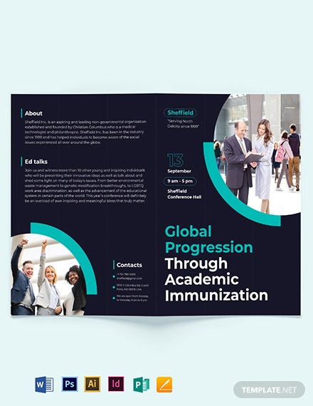 Corporate Event Bi-Fold Brochure Template