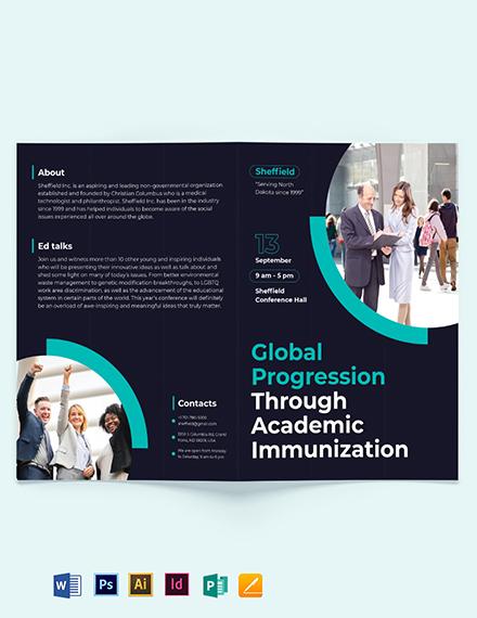 Corporate Event Bi-Fold Brochure Template