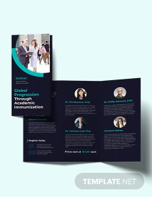 Corporate Event Tri-Fold Brochure Template