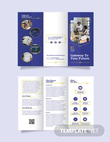 Die Cut Tri-Fold Brochure Template
