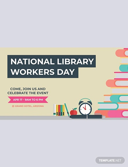 Free National Library Workers Day YouTube Channel Cover