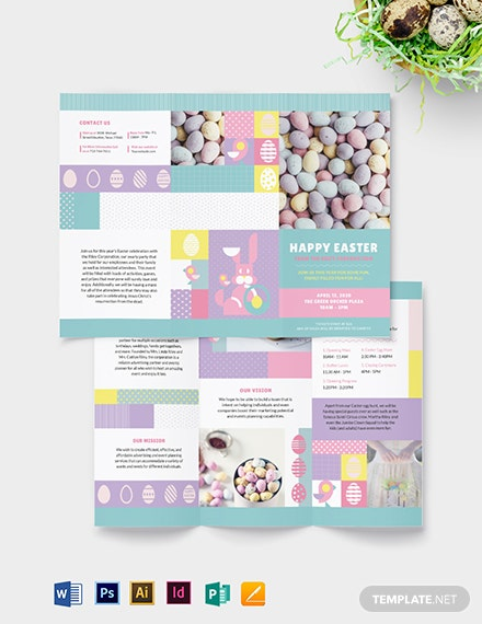 Easter Tri-Fold  Brochure Template