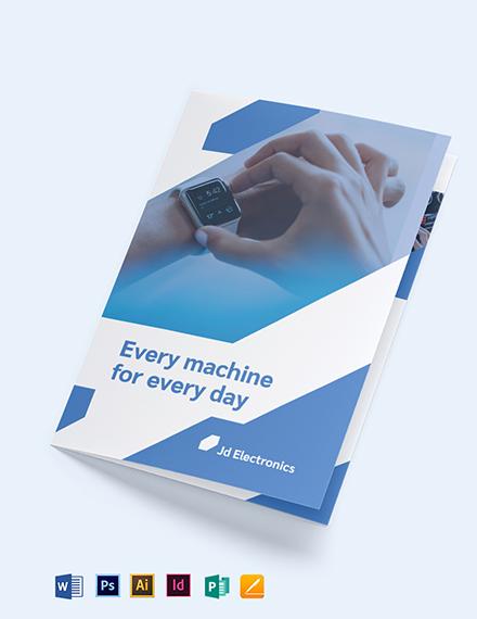 Electronic Bi-Fold Brochure Template