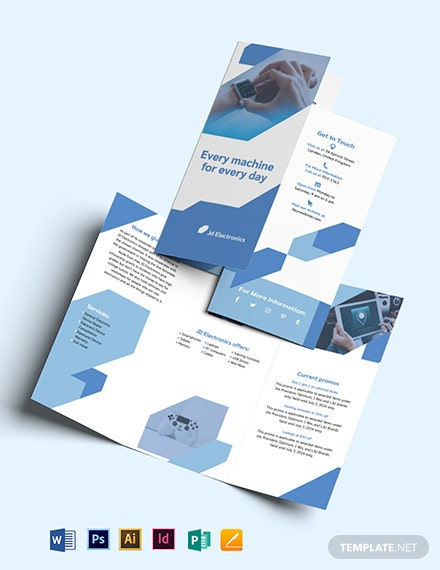 Electronic Tri-Fold Brochure Template
