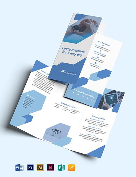 Electronic Tri-Fold Brochure Template