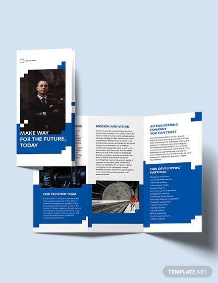 Engineering Consultants Tri-Fold Brochure Template