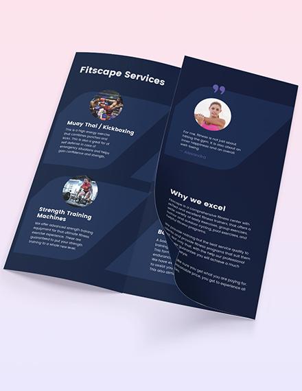 Sample Fitness Center TriFold Brochure