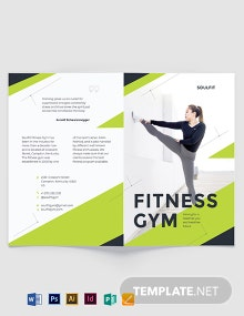 Fitness Gym Bi-Fold Brochure Template