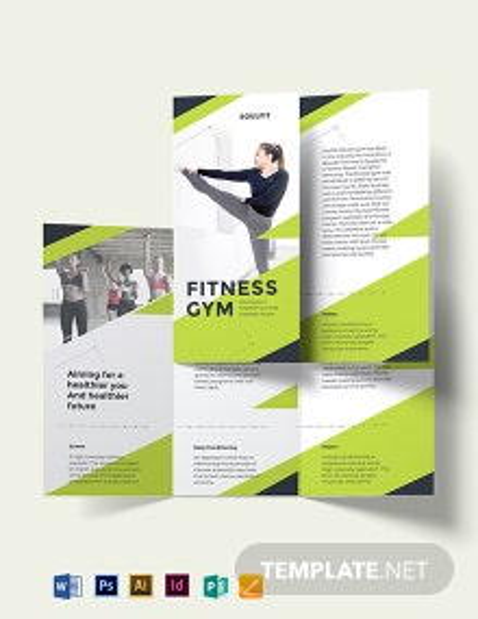 Fitness Gym Tri-Fold Brochure Template
