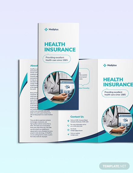 Health Insurance Company TriFold Brochure Download