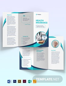 Health Insurance Company Tri-Fold  Brochure Template