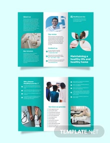 Home Healthcare Tri-Fold Brochure Template