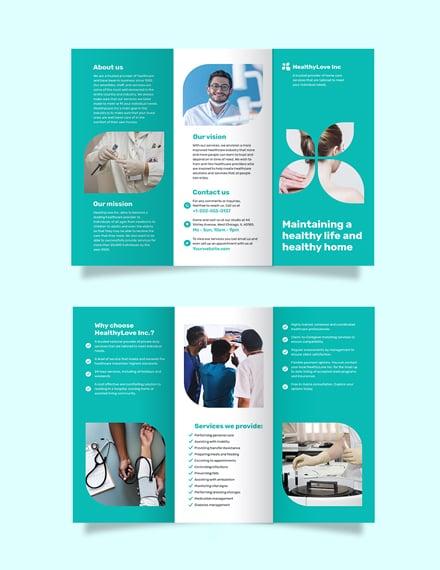 Home Healthcare Tri-Fold Brochure Template