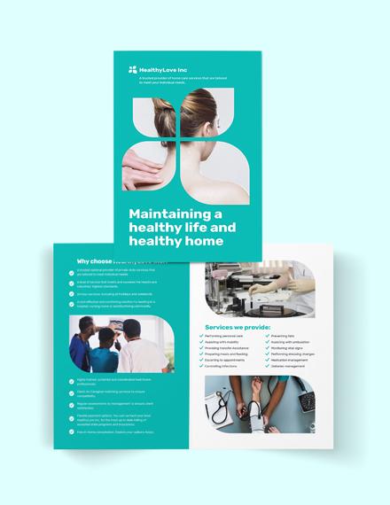 Home Healthcare Bi-Fold Brochure Template