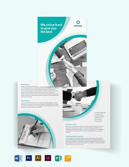 Insurance Bi-Fold Brochure Template