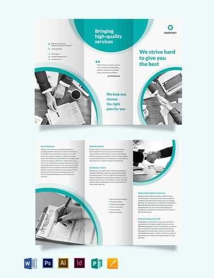 Insurance Tri-Fold Brochure Template
