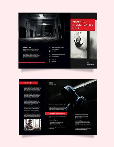 Investigator Tri-Fold Brochure Template