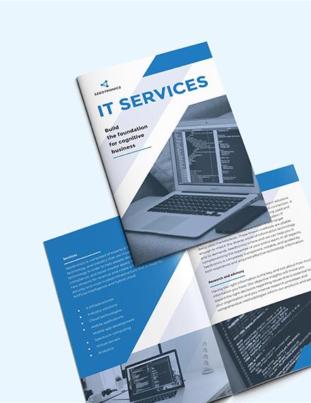 Sample IT Business BiFold Brochure