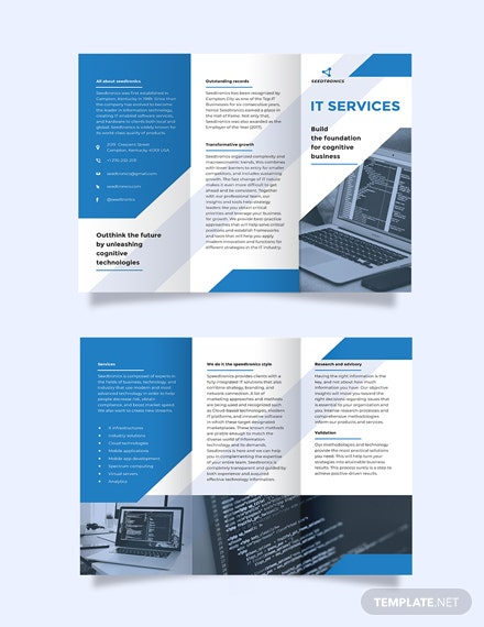 IT Business Tri-Fold Brochure Template