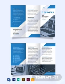 IT Business Tri-Fold Brochure Template