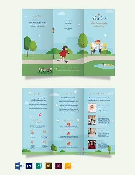 Kindergarden Tri-Fold Brochure Template