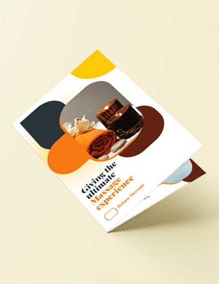 Massage Bi-Fold Brochure Template
