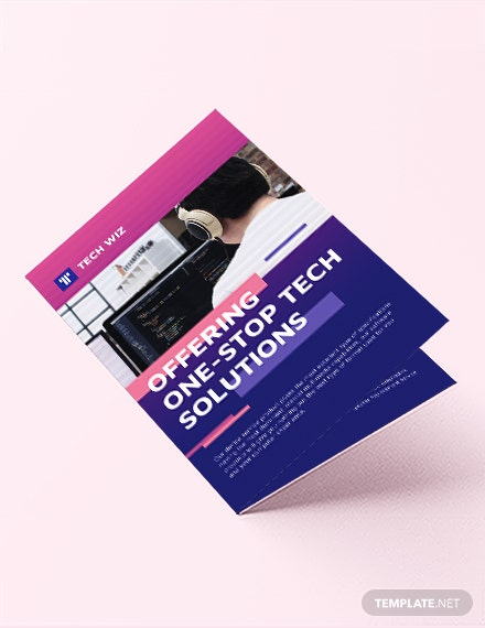 Professional Services Bi-Fold Brochure Template