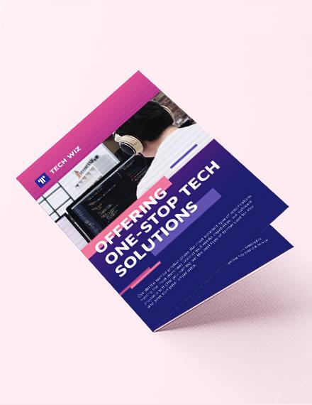 Professional Services Bi-Fold Brochure Template