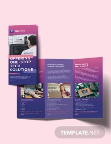 Professional Services Tri-Fold Brochure Template
