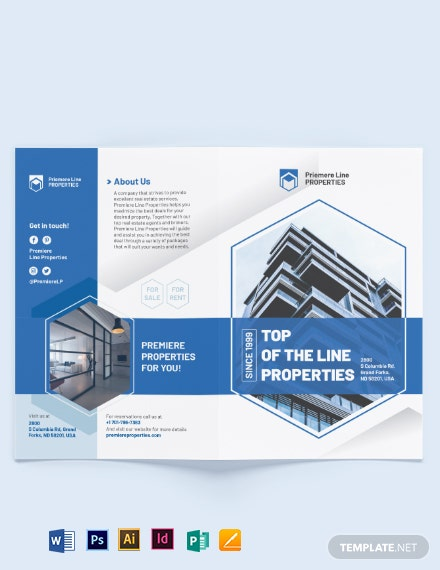 Property Bi-Fold Brochure Template