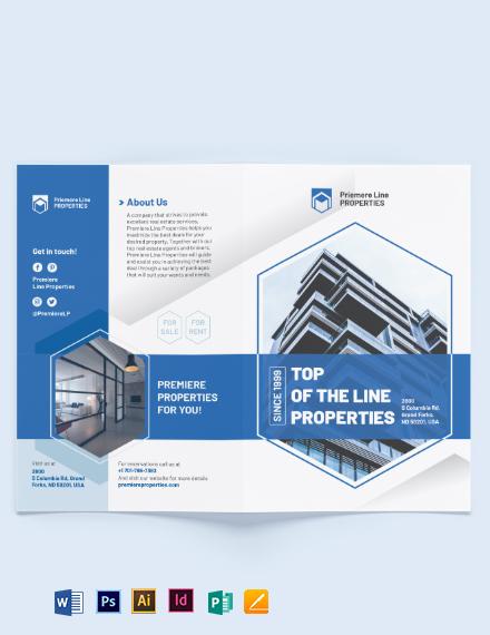 Property Bi-Fold Brochure Template