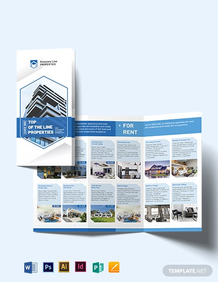 Property Tri-Fold Brochure Template